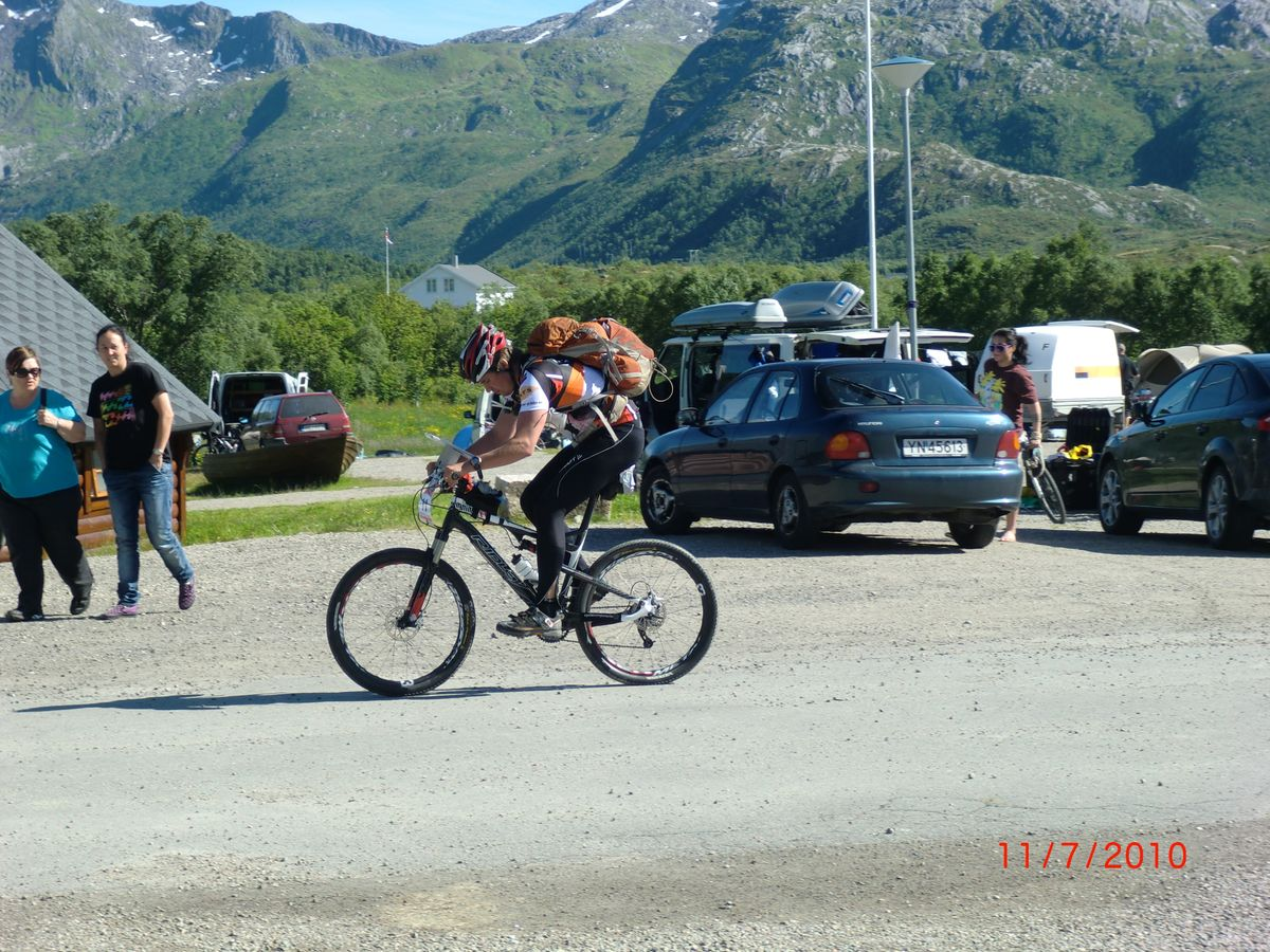 Use of bike is a great way for experience the Lofoten islands